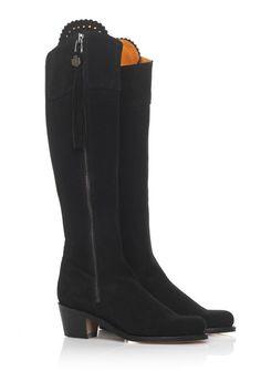5d217636aedbbf The Heeled Regina (Black) - Suede Boot