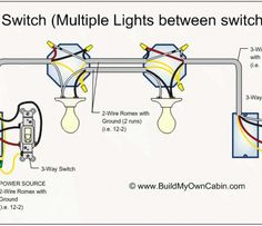 141 Best Wiring Diagram images in 2019 | Diagram, House wiring ...  Way Switch Wiring Diagram More Than One Light on
