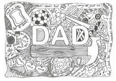 doodle designs for dad - Google Search