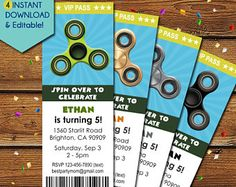 Image result for fidget spinner birthday party ideas