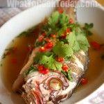 Thai lemon fish...Mmmm, head on fish is the best!
