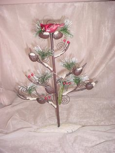 Christmas Card Photo Holder Display Tree St Nicholas Square Christmas Cardinal