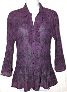 Womens Casual Long Sleeve Women's Top Blouse Shirt  Size M #Notag #Blouse #Casual