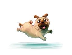 Pug. Sketch for fun. on Behance