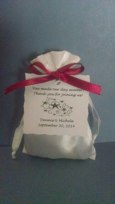 Satin Pouches/ Bags Personalized for DIY by DesignYourFavors, $35.50 for 25 handmade bags!
