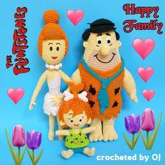 First comes love...... then marriage..... then ..... comes Pebbles......... #crocheteddoll #crochetaddict #designedbyoj #amigurumiaddict #amigurumi #crocheting #crochetoftheday #crochetgeek #haken #haekeln #Flintstone #wilmaflintstone #pebbles #fred