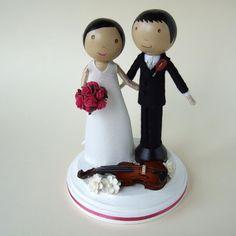wee cute treasures: Wedding Cake Topper with Violin