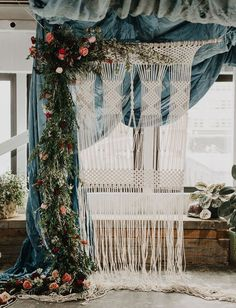 our favorite wedding details + decor from 2016 - bohemian-inspired wedding with a macramé backdrop