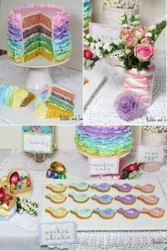 A Pretty Pastel Easter Dessert Table | Calligraphy by Jennifer