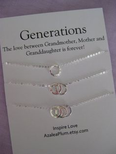 Generations necklaces  https://www.etsy.com/listing/231368108/generations-necklace-grandmother-mother