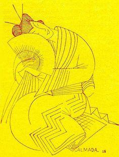 Almada Negreiros, Galant and Heroic Japan, Magazine Bertrand No. 63, 1932 | Flickr - Photo Sharing!