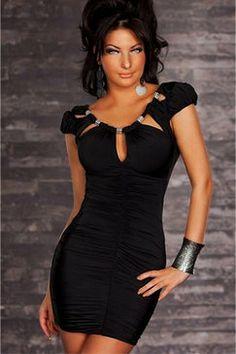JEWELLERY COLLAR BLACK DRESS Black Collared Dress b41ecf4a3f6e