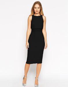 Immagine 1 di ASOS - Morbido vestito longuette trasparente e opaco
