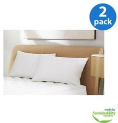 Mainstays Microfiber Pillow, White, Standard Standard pillows, two pack White Pillows, Bed Pillows, Guest Room, Home Goods, Pillow Cases, Nice, Image, Pillows, Nice France