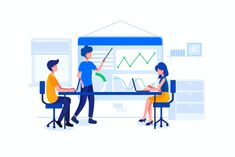 Digital Product Manager Vector Illustration - AI, EPS