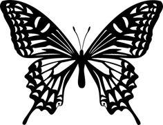 アゲハ蝶のシルエット