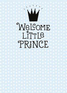 Echte kaarten maken & versturen - Geboortekaartje - welcome little prince