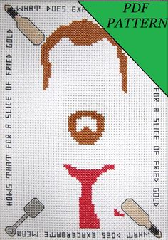 Shaun of the Dead Cross Stitch PDF Pattern by OhSewNerdy on Etsy, $5.00