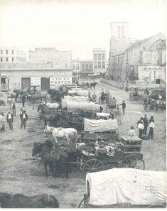 about 1870 San Antonio, Texas.  Zane Grey's novel, The Trail Driver (1931). Heros:  Texas Joe Shipman (trail boss), Adam Brite (owner).  Story took place in 1871.