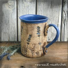 Pottery Mugs, Ceramic Pottery, Pottery Designs, Air Dry Clay, Ceramic Cups, Handmade Pottery, Surface Design, Tea Cups, Polymer Clay