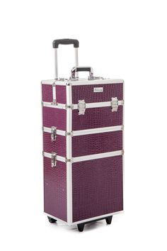 The Urbanity Classic Purple Croc Animal Print Beauty Trolley is perfect for professional mobile beauticians, nail technicians and hairdressers.  It's stylish, versatile, and is the ideal beauty storage solution for those on the move!