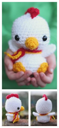 Crochet Motif Crochet Baby Rooster Amigurumi Free Pattern - 2017 is the Year of the Rooster. We've compiled a few Rooster Crochet Amigurumi Patterns for you to have some yarn hooking fun with roosters. Crochet Animal Patterns, Crochet Patterns Amigurumi, Crochet Dolls, Amigurumi Doll, Baby Patterns, Easter Crochet, Cute Crochet, Crochet Motif, Chicken Pattern