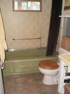 Painted Floor A SingleWide Mobile Home MakeOver Pinterest - Single wide trailer bathroom remodel