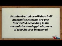 Comparing Standard and Custom-Fabricated Mezzanines - YouTube