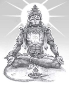 Lord Hanuman is a great devotee of Lord Rama and here is a collection of Lord Hanuman images and HD wallpapers, a brief history, slokas & much more. Hanuman Pics, Hanuman Images, Hanuman Chalisa, Hanuman Tattoo, Shiva Tattoo, Hanuman Ji Wallpapers, Lord Mahadev, Lord Shiva Painting, Yoga