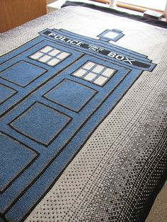 Ravelry: Doctor Who TARDIS Afghan pattern by Carrie Fritsche. I'm just not sure you'd get it in this lifetime...