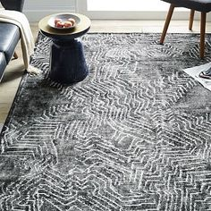 This could be cool with your african art Tidal Graph Wool Rug #westelm