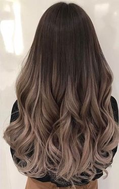 Balayage and ombre hair. Hair color ideas and trends for 20 Hairstyles hair ideas. Balayage and ombre hair. Hair color ideas and trends for 20 . Brown Hair Shades, Light Brown Hair, Dyed Hair Brown, Cool Brown Hair, Ash Brown Hair Color, Gray Hair, White Hair, Ash Hair Colors, Black Blonde Hair