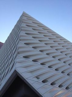 """A steel and concrete shell called the """"veil"""" encases America's most anticipated museum, the Broad."""