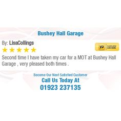 Second time I have taken my car for a MOT at Bushey Hall Garage , very pleased both times. Go The Extra Mile, Online Reviews, Get The Job, Garage, How To Get, Running, Business, Times, Carport Garage