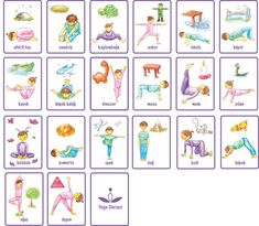 Yoga Pose cards (for kids):