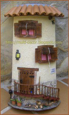 Tejas fachadas miniaturas on pinterest youtube wooden - Trabajos artesanales para hacer en casa ...