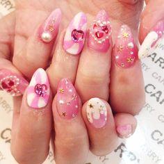 Post with 0 votes and 186 views. Got my dream nails this week at NAIL CARRY Shibuya in Tokyo Kawaii Nail Art, Cute Nail Art, Cute Nails, Acrylics, Acrylic Nails, Bridal Nail Art, Soft Nails, Dream Nails, War Paint
