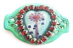 Crystal Enamel No Metal Handcrafted Brooches & Pins Brooklyn New York, Coney Island, Brooch Pin, Enamel, Nyc, Crystals, Metal, Souvenir, Brooch