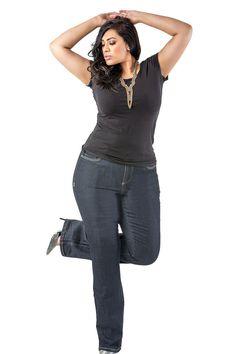 slim jeans for plus women
