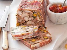 Chicken and pistachio terrine    Made a day in advance, this rich, delicious terrine is ideal for lunch with friends or a fancy picnic. To make it extra special, serve with slices of Gruyère.