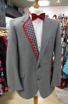 Customised grey suit jacket….