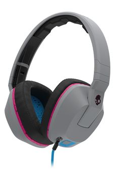 Skullcandy Crusher Gray/Cyan/Black Over-Ear Headphones with Built-in Amplifier & Mic Skullcandy Headphones, Gaming Headphones, Best Headphones, Gaming Headset, Over Ear Headphones, Beats Studio Headphones, Wire Headband, Headphone With Mic, Walmart
