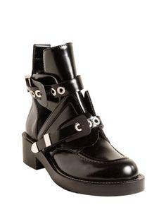 BALENCIAGA Buckle Strap Ankle Boot