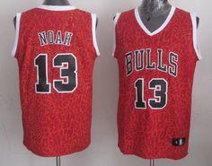 Men's NBA Chicago Bulls #13 Noah Crazy Light Swingman Red Jersey