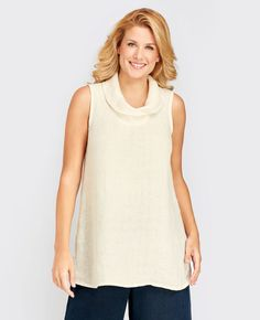FLAX Design FLAX Socials 2015 Evening Tunic at Fg Clothing on sale. #FLAXdesign women's linen sleeveless tunic top