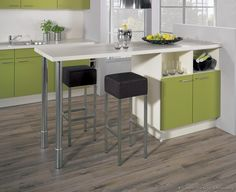 #Kitchen Idea of the Day: Modern Two-Tone Kitchens. (By ALNO, AG). Functional island table.