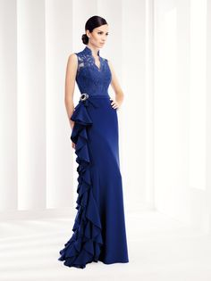 Blue Lace Long Evening Dresses New The Banquet Elegant Backless Mermaid Prom Dress Plus Size Mother of The Bride Party Gown Quince Dresses, 15 Dresses, Peplum Dresses, Resort Dresses, Linen Dresses, 2015 Wedding Dresses, Bridal Dresses, Backless Mermaid Prom Dresses, Mother Of The Bride Suits