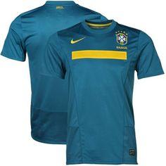 Nike Brazil Away Soccer Jersey 11/12 - Teal