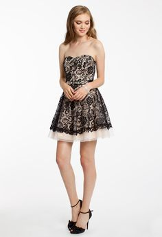 TWO TONE LACE WITH TULLE #shortdress #homecoming #hoco15 #camillelavie #groupusa #lace #twotone