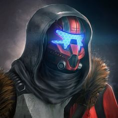 """""""Hunter of the Frontier"""" by Character Concept, Character Art, Concept Art, Character Design, Destiny Hunter, Destiny Game, Futuristic Helmet, Warframe Art, Future Soldier"""